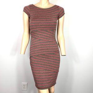 Bailey 44 Layered column Striped Sheath Dress XS